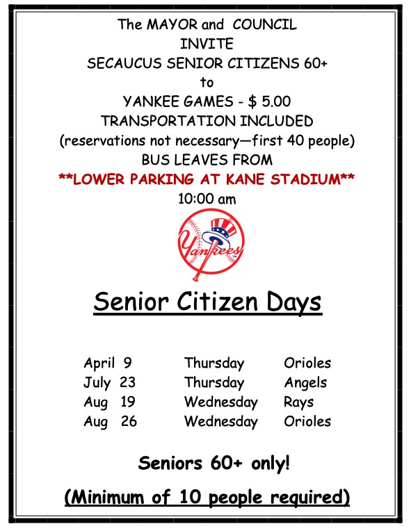 Yankee Game - Click for PDF
