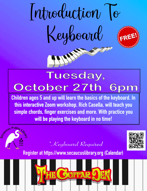 Introduction to Keyboard 10-27 at 6pm